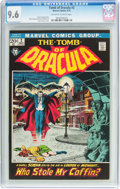 Bronze Age (1970-1979):Horror, Tomb of Dracula #2 (Marvel, 1972) CGC NM+ 9.6 Off-white to whitepages....