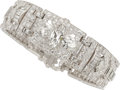 Estate Jewelry:Bracelets, Art Deco Diamond, Platinum Bracelet. ...