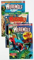 Bronze Age (1970-1979):Horror, Werewolf by Night Group of 18 (Marvel, 1973-77) Condition: AverageFN/VF.... (Total: 18 Comic Books)