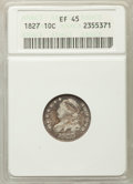 Bust Dimes: , 1827 10C XF45 ANACS. NGC Census: (15/207). PCGS Population:(32/236). Mintage 1,300,000. ...