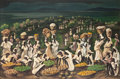 Fine Art - Painting, American:Contemporary   (1950 to present)  , Adolf Arthur Dehn (American, 1895-1968). Haiti Night, 1950.Casein on board. 26 x 39 inches (66.0 x 99.1 cm). Signed and...