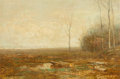 Fine Art - Painting, American:Antique  (Pre 1900), John Francis Murphy (American, 1853-1921). Autumn Afternoon.Oil on canvas. 8 x 12 inches (20.3 x 30.5 cm). Signed lower...
