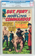 Silver Age (1956-1969):War, Sgt. Fury and His Howling Commandos #5 (Marvel, 1964) CGC NM 9.4 Off-white to white pages....