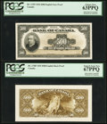 Canadian Currency: , BC-17FP/BP $500 1935 Face and Back Proofs.. ... (Total: 2 notes)