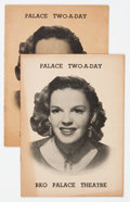 Memorabilia:Movie-Related, Judy Garland RKO Palace Theatre Playbill Group of 2 (1951)....(Total: 2 Items)