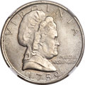 Patterns, 1759 (Circa 1985) Martha Washington Five Cent Test Piece, Judd-2182, Pollock-Unlisted, R.7, MS64 NGC. ...