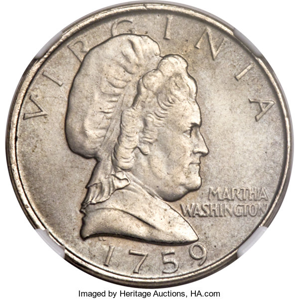 1759 (Circa 1985) Martha Washington Five Cent Test Piece, Judd-2182