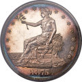 Proof Trade Dollars, 1875 T$1 PR63 Cameo PCGS. CAC....