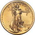 High Relief Double Eagles, 1907 $20 High Relief, Wire Rim -- Cleaning -- PCGS Genuine. Unc. Details....