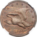 Patterns, 1854 P1C Flying Eagle Cent, Judd-164 Original, Pollock-189, R.5 PR64 Brown NGC....