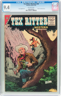 Tex Ritter Western #30 (Charlton, 1955) CGC NM 9.4 Off-white pages