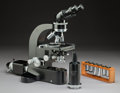 Decorative Arts, Continental, A Cased Ernst Leitz Dialux Compound Microscope, Wetzlar,Germany, circa 1959. 12-1/2 inches (31.8 cm) (instrumen...