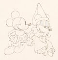 Animation Art:Production Drawing, Ye Olden Days Mickey Mouse and Minnie Mouse AnimationDrawing (Walt Disney, 1933)....