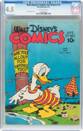 Golden Age (1938-1955):Cartoon Character, Walt Disney's Comics and Stories #21 (Dell, 1942) CGC VG+ 4.5Off-white pages....