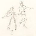 Animation Art:Production Drawing, Sleeping Beauty Briar Rose and Prince Phillip AnimationDrawing (Walt Disney, 1959)....