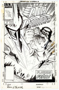 Original Comic Art:Covers, Steve Geiger and Jim Sinclair Air Raiders #4 Cover OriginalArt (Marvel, 1988)....