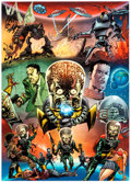Memorabilia:Trading Cards, Mars Attacks! SDCC Promotional Trading Card Uncut Sheet(Topps, 2012)....