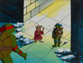 Animation Art:Production Cel, Teenage Mutant Ninja Turtles Production Cel and PrintBackground Setup (Murakami-Wolf-Swenson, 1980s-90s) ... (Total: 2Original Art)