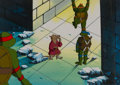 Animation Art:Production Cel, Teenage Mutant Ninja Turtles Production Cel and PrintBackground Setup (Murakami-Wolf-Swenson, 1980s-90s) ... (Total: 2 )