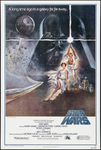 "Star Wars (20th Century Fox, 1977). Fourth Printing One Sheet (27"" X 41""). Science Fiction"