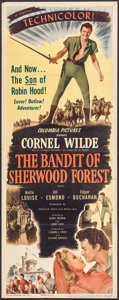 "Movie Posters:Adventure, The Bandit of Sherwood Forest (Columbia, 1946). Insert (14"" X 36"").Adventure.. ..."