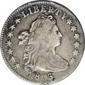 Early Dimes: , 1803 10C JR-1, R.7.--Damaged--NCS. VF Details. Medium silver toningon the devices, with the usual attractive gray in the f...