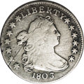 Early Dimes: , 1803 10C JR-4, R.5.--Obverse Scratched, Improperly Cleaned--NCS. VFDetails. The obverse is scratched from the second star ...