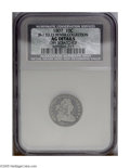 Early Dimes: , 1807 10C JR-1, R.2. Reiver state a.--Obverse Scratched--NCS. AGDetails. Pearl gray toning on the high points changes to gu...