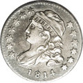 Bust Dimes: , 1814 10C Small Date JR-1, R.3.--Environmental Damage--NCS. AUDetails. Pewter gray on the devices with darker charcoal caus...