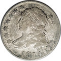 Bust Dimes: , 1814 10C Large Date JR-2, R-3. Reiver state b.--Damaged--NCS. VFDetails. The source of the damage seems to be unusual stre...