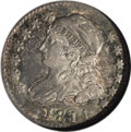 Bust Dimes: , 1814 10C Large Date JR-3, R.2. Reiver state b. AU58 NGC. A lovelycoin that retains luster in the fields and very attractiv...