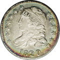 Bust Dimes: , 1820 10C Small 0 JR-3, R.4. Reiver state a. VF35 NGC. A beautifulcoin that has rainbow peripheral toning which includes br...