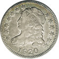 Bust Dimes: , 1820 10C Small 0 JR-6, R.3. Reiver state a. VF35 NGC. Toned with aring of gold on the obverse with the balance of the coin...