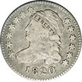 Bust Dimes: , 1820 10C Small 0 JR-10, R.3. Reiver state a. VF20 NGC. Dark gray tocharcoal throughout, but with clean surfaces. Early die...