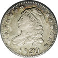 Bust Dimes: , 1820 10C Large 0 JR-13, R.2. Reiver state b. XF45 NGC. Toned withiridescent green and gold in the fields over luster, with...