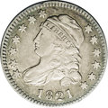 Bust Dimes: , 1821 10C Large Date JR-3, R.4. Reiver state a. XF45 NGC. A very desirable example of this scarce die pairing. Toned with du...