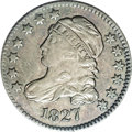 Bust Dimes: , 1827 10C JR-11, R.2. Reiver state a.--Improperly Cleaned--NCS. AUDetails. Darkly toned with mottled gray, blue and brown, ...