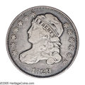 Bust Dimes: , 1829 10C Small 10C JR-9, R.4. Reiver state a. VF25 NGC. Attractivesilver-gray on the devices which are offset by darker gr...