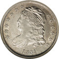 Bust Dimes: , 1831 10C JR-1, R.1. Reiver state f. AU58 NGC. Mostly brilliant inthe central areas with hints of gold at the borders and s...