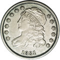 Bust Dimes: , 1831 10C JR-3, R.1. Reiver state a.--Improperly Cleaned--NCS. XFDetails. Cleaned and now toned a slightly dull gray with c...
