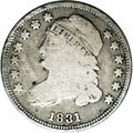 Bust Dimes: , 1831 10C JR-5, R.1. Reiver state b.--Obverse Scratched--NCS. VGDetails. The obverse has a rather heavy scratch from the ri...