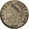 Bust Dimes: , 1832 10C JR-4, R.3. Reiver state a. AU55 NGC. Medium silver-graywith traces of luster in the fields. The peripheral device...