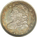 Bust Dimes: , 1833 10C JR-2, R.5. Reiver state b. MS63 NGC. A truly incrediblespecimen of the variety, head and shoulders above the fine...