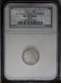 Bust Dimes: , 1833 10C JR-4, R.1. Reiver state f.--Bent--NCS. VG Details. Mediumsilver to gray throughout, with some mottling on the rev...
