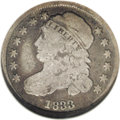 Bust Dimes: , 1833 10C JR-4, R.1. Reiver state g. VG8 NGC. Medium gray toning onthe high points deepens to darker gray in the fields. On...