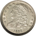 Bust Dimes: , 1833 10C Last 3 High JR-5, R.1. Reiver state a. AU58 NGC. Brightsilver with traces of luster in the protected areas. The s...