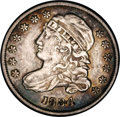 Bust Dimes: , 1834 10C Large 4 JR-4, R.3. Reiver state a. AU53 NGC. Silver-graywith patches of blue around the periphery. Sharply struck...