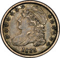 Bust Dimes: , 1835 10C JR-1, R.1. Reiver state a. AU58 NGC. Attractive dark graywith hints of yellow near the periphery. Sharply struck ...