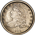 Bust Dimes: , 1835 10C JR-2, R.4. Reiver state a.--Obverse ImproperlyCleaned--NCS. XF Details. Some obverse hairlines account for theNC...
