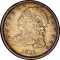 Bust Dimes: , 1835 10C JR-4, R.2. Reiver state a.--Improperly Cleaned--NCS. XFDetails. Cleaned and retoned with a curious bright orange-...